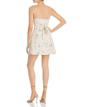 Lost and Wander - Luci Sleeveless Floral-Print Mini Dress
