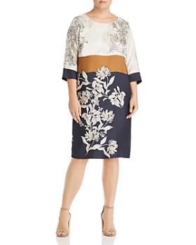 Marina Rinaldi - Davos Silk Floral-Print Dress