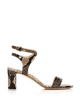 Jimmy Choo - Women's Marine Snakeskin-Embossed Leather High-Heel Sandals - 100% Exclusive