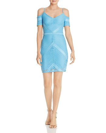 GUESS - Danessa Cold-Shoulder Lace Dress