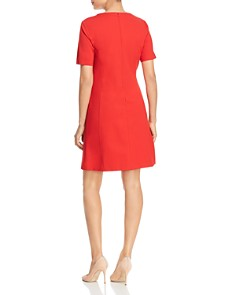 Misook - Fit-and-Flare Pocket Dress