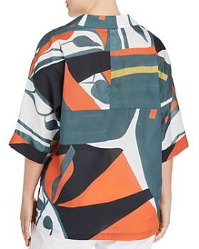 Lafayette 148 New York Plus - Nicole Abstract-Print Blouse
