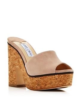 Jimmy Choo - Women's Deedee 125 High Block-Heel Platform Slide Sandals