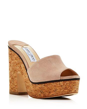 Jimmy Choo Womens Santina 125 Embellished High Block-Heel