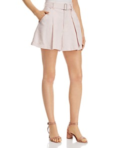 Rebecca Taylor - Pleat-Front Belted Shorts