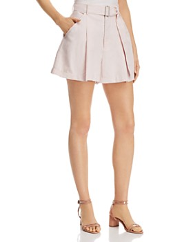 7cf0c697e31 Rebecca Taylor - Pleat-Front Belted Shorts ...