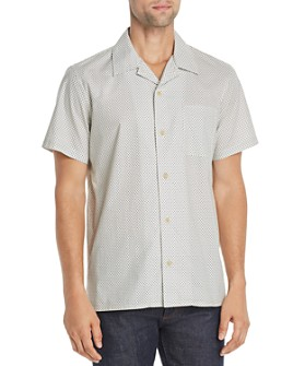 A.P.C. - Chemise Michael Short-Sleeve Geometric-Print Regular Fit Shirt