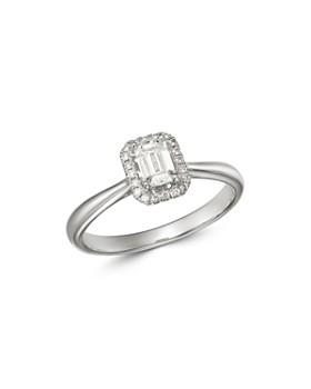 Bloomingdale's - Emerald-Cut Diamond Engagement Ring in 18K White Gold - 100% Exclusive