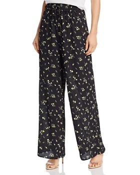 AQUA - Floral Wide-Leg Pants - 100% Exclusive