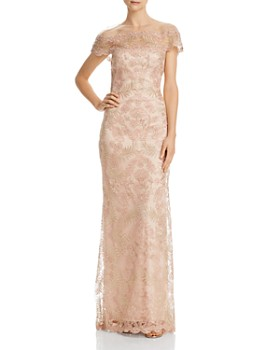 f5b13999c0 Tadashi Shoji - Illusion Off-The-Shoulder Lace Gown ...