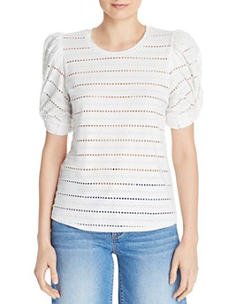 Generation Love - Zoey Puff-Sleeve Pointelle Top