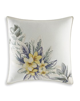"""Tommy Bahama - Cuba Cabana Embroidered Square Pillow, 16"""" x 16"""""""