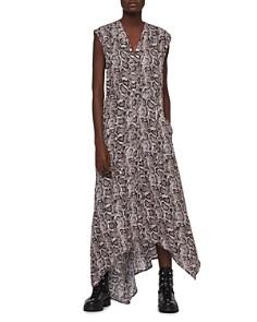 ALLSAINTS - Tate Misra Asymmetric Snake Print Dress