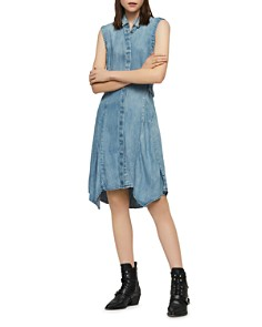 ALLSAINTS - Francis Tie-Waist Denim Shirt Dress
