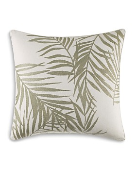"""Tommy Bahama - Palms Away Embroidered Palm Square Pillow, 16"""" x 16"""""""