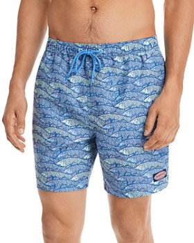 Vineyard Vines - Chappy Fish-Traffic-Print Swim Trunks