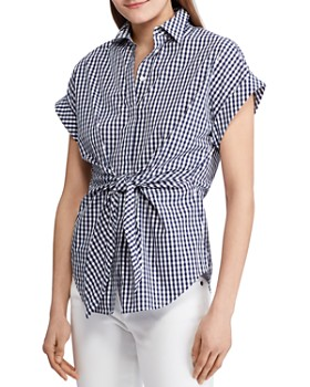 Ralph Lauren - Tie-Front Gingham Shirt - 100% Exclusive