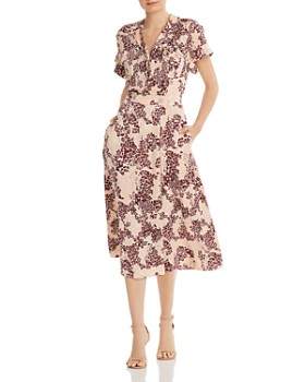 Equipment - Orlenna Printed Silk-Blend Dress