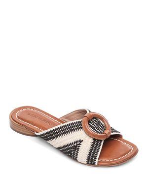 BERNARDO | Bernardo Women's Tay Embroidered Slide Sandals | Goxip