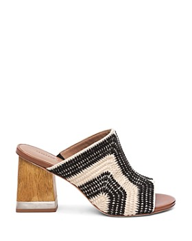 Bernardo - Women's Noelle Embroidered Open-Toe Mules