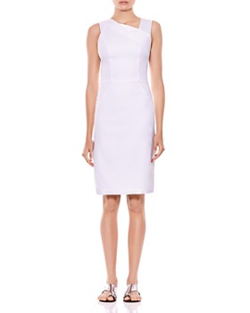 ccdb7960378 HALSTON HERITAGE - Asymmetric Sheath Dress ...