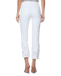 PAIGE - Vintage Colette Crop Bootcut Jeans in Crisp White Embroidered