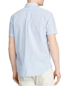 Polo Ralph Lauren - Short-Sleeve Gingham Slim Fit Button-Down Shirt