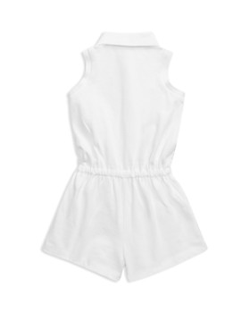 Ralph Lauren - Girls' Embroidered Floral Polo Romper - Baby