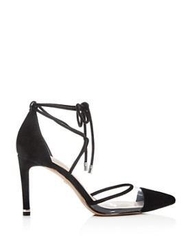 Kenneth Cole - Women's Riley Ankle-Tie Cap-Toe Pumps