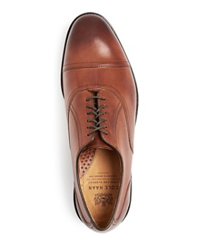 Cole Haan - Men's Kneeland Leather Cap-Toe Oxfords