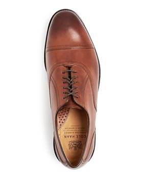 Cole Haan - Men's Kneeland Leather Cap-Toe Oxfords