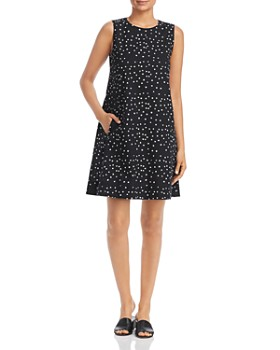 Eileen Fisher Petites - Dotted A-Line Dress