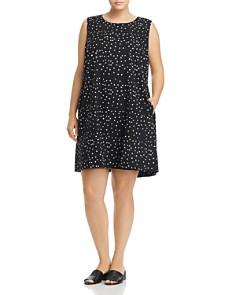 Eileen Fisher Plus - Organic Cotton Dot-Print Shift Dress
