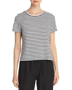 Eileen Fisher - Striped Organic Linen Tee