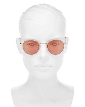 GARRETT LEIGHT - Women's Wilson Round Sunglasses, 49mm