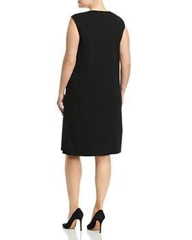 Misook Plus - Scoop-Neck Tank Midi Dress