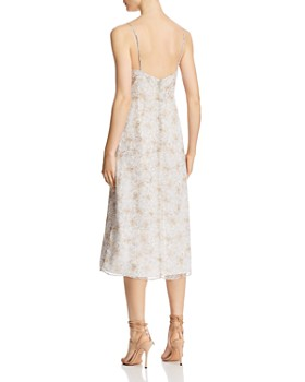 The East Order - Harlie Floral Lace-Up Midi Dress