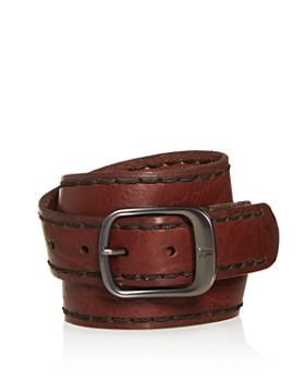 Frye - Men's Stitched-Edge Leather Belt