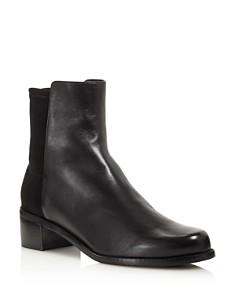 Stuart Weitzman - Women's Easyese Leather & Neoprene Block-Heel Booties