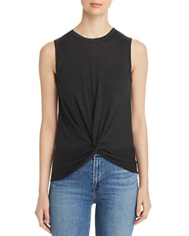 Elan - Sleeveless Twisted Top