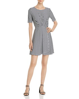 Vero Moda - Pleated Striped Dress