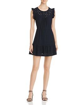 Vero Moda - Vero Moda Sally Frilled Eyelet Mini Dress