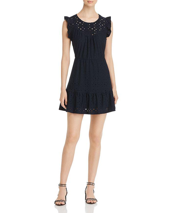 Vero Moda - Sally Frilled Eyelet Mini Dress