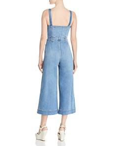 Alice and Olivia - Gorgeous Cropped Wide-Leg Denim Jumpsuit