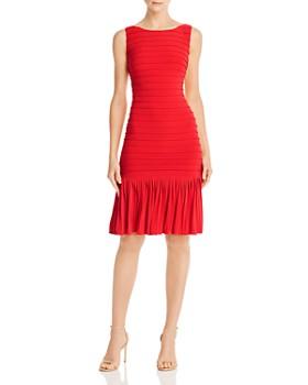 Adrianna Papell - Pintucked Jersey Dress