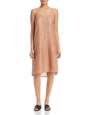 Eileen Fisher - Crinkled Silk Slip Dress