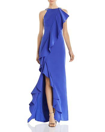 Eliza J - Embellished Ruffle Gown