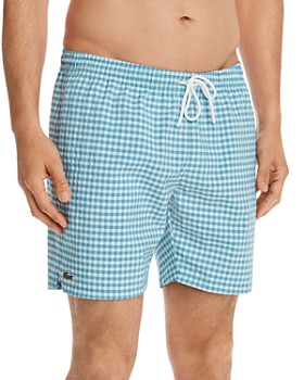 a3364655efa80 Lacoste - Classic Gingham Seersucker Swim Trunks ...
