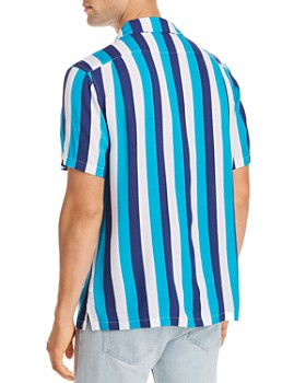 JACHS NY - Short-Sleeve Striped Classic Fit Shirt - 100% Exclusive