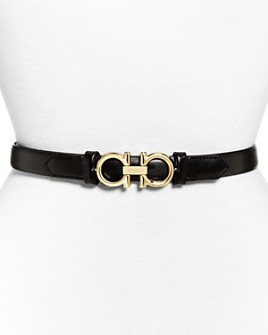 Salvatore Ferragamo - Women's Gancini Slim Leather Belt